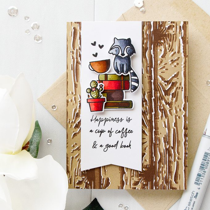 Waffle Flower | Happiness Is A Cup of Coffee and a Good Book Card by Yana Smakula