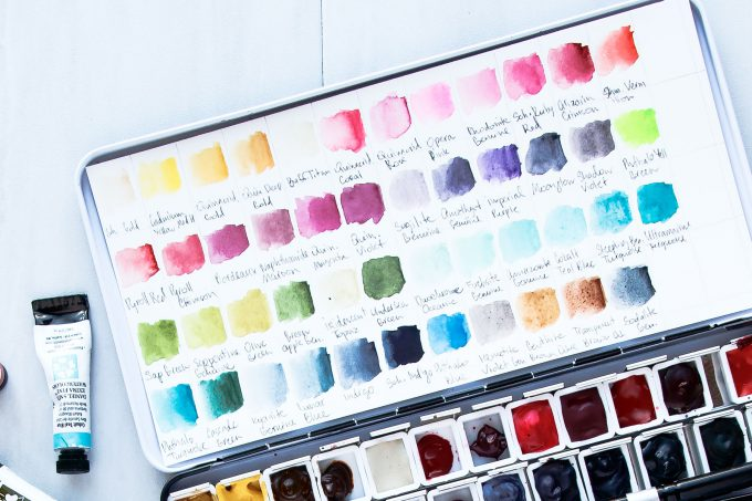 My Top 10 & Top 20 Watercolor Colors for Cardmaking