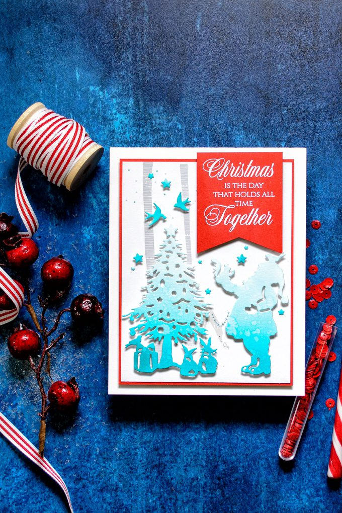 Spellbinders | Christmas Cards with Sharyn Sowell's Dies - Christmas Is The Day That Holds Time Card