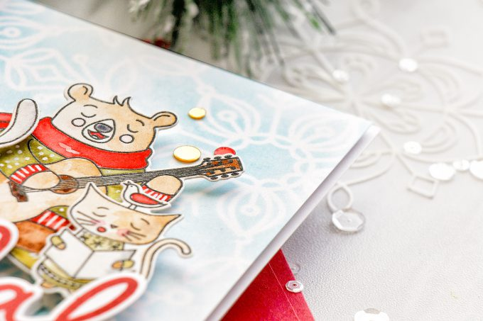 Simon Says Stamp | Fa La La - Making Spirits Bright Carolers Card by Yana Smakula