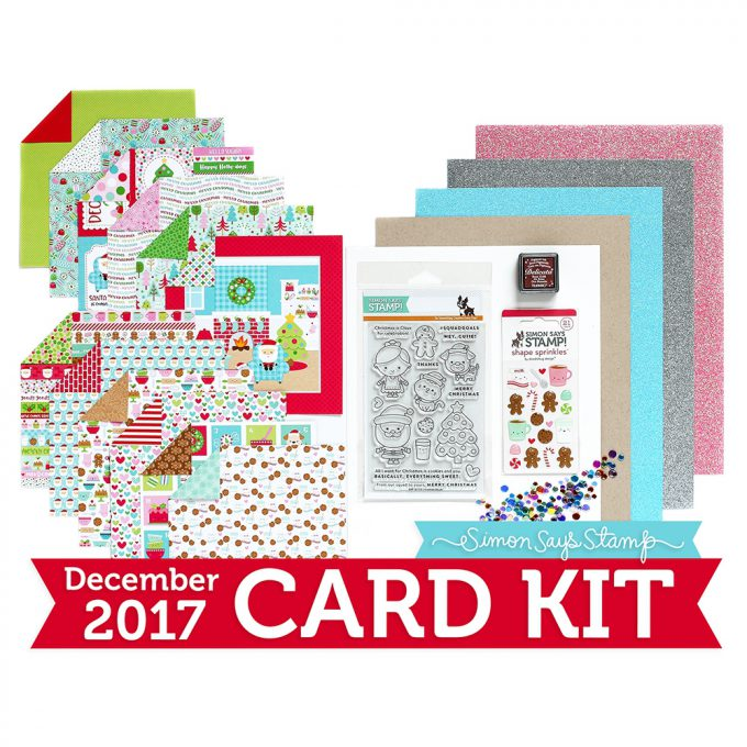 Simon Says Stamp Card Kit of the Month December 2017 Milk and Cookies Ck1217