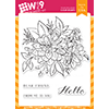 WPlus9 Beautiful Bouquet Dahlia Stamp Set