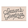 Hero Arts Seasons Greetings Script Stamp