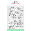 Pretty Pink Posh Winter Woodland Clear Stamp Set