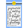 Sunny Studio Festive Greetings Clear Stamp Set