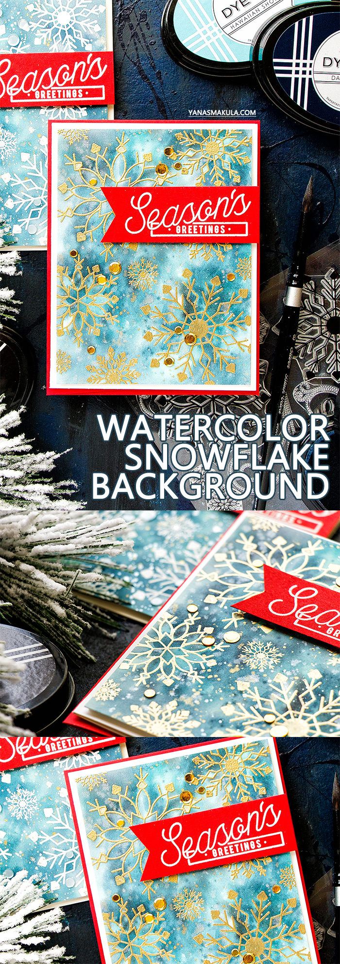 PTI | Christmas Watercolor with PTI Dye Ink Pads. Video