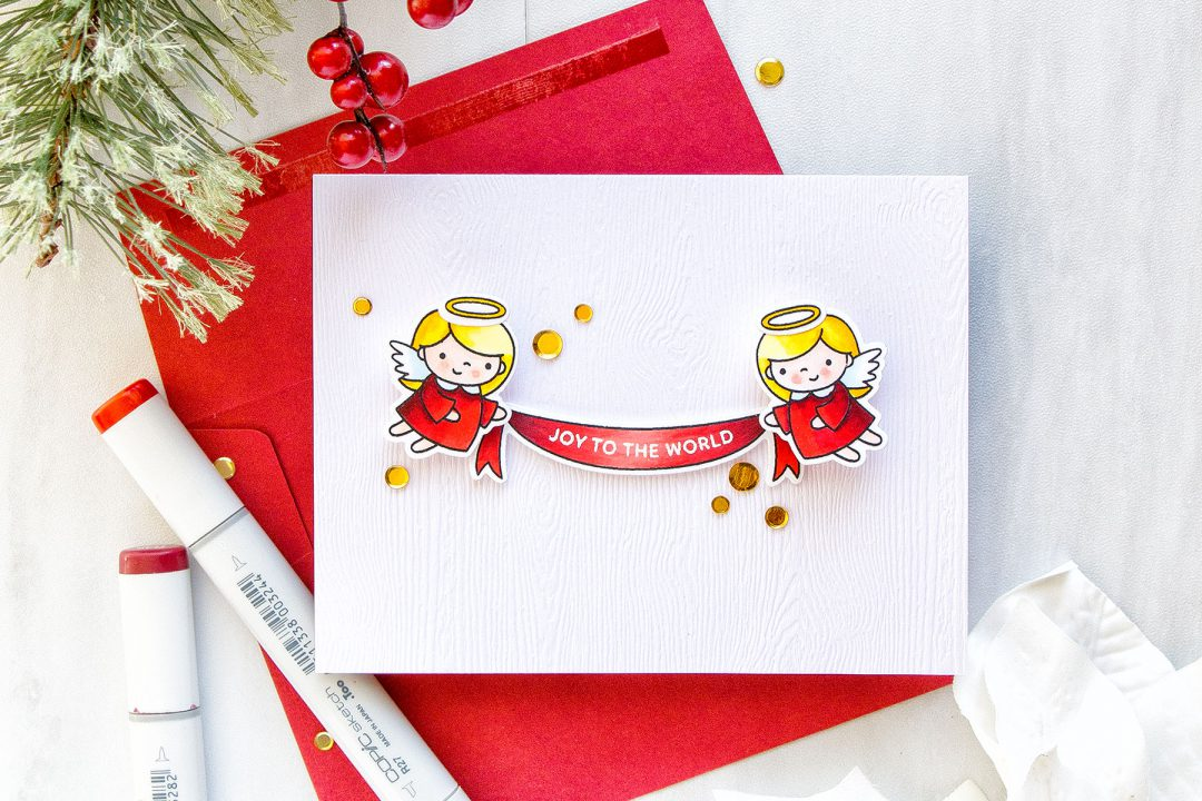 Pretty Pink Posh   Christmas Angel Action Wobble Card. Video tutorial #cardmaking #stamping #christmascard