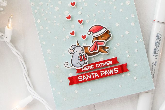 Simon Says Stamp | Lawn Fawn Cyber Week Exclusive Friends Forever Stamp Set. Video. Here Comes Santa Paws video by Yana Smakula #cardmaking #stamping #lawnfawn #simonsaysstamp