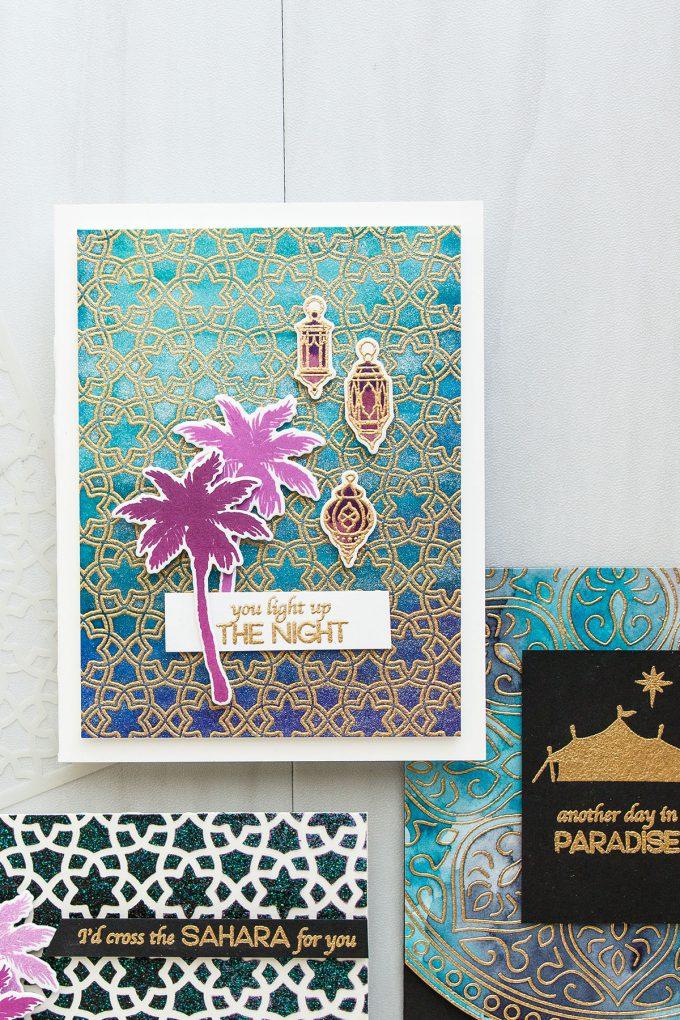 Hero Arts | Oriental Cards - Background Ideas. Video. December My Monthly Hero Blog Hop #mymonthlyhero #heroarts #yanasmakula