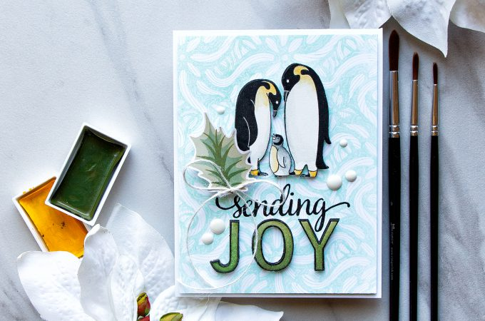 Advent Calendar Extravaganza with Taheerah Atchia | Hero Arts | Sending Penguin Joy Card