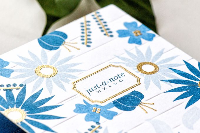 Papertrey Ink | Faux Stationery Stamped Cards. Video tutorial. Featuring Flower Power Stamp Set & Little Labels Stamp Set. #stamping #yanasmakula #stampedstationery #papertreyink #cardmaking #justanptecard