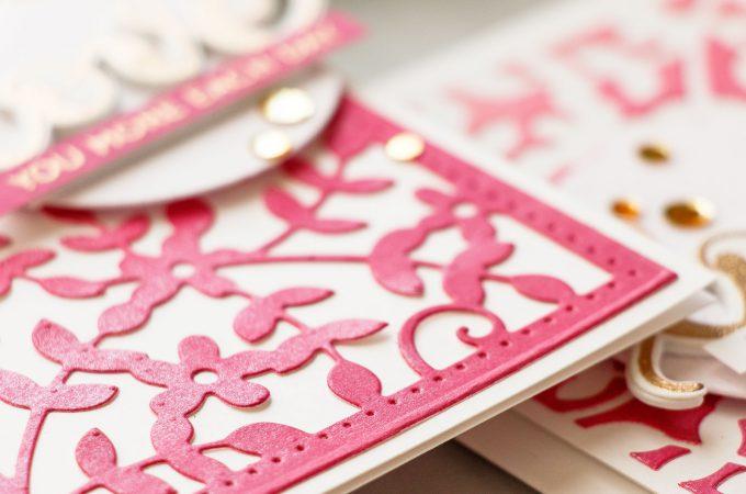 Spellbinders | Positive & Negative Die Cutting - One Die 2 Ways by Yana Smakula. Using Spellbinders S6-117 Framed Floral Celebrate the Day by Marisa Job Etched Dies #cardmaking #handmadecard #diecutting
