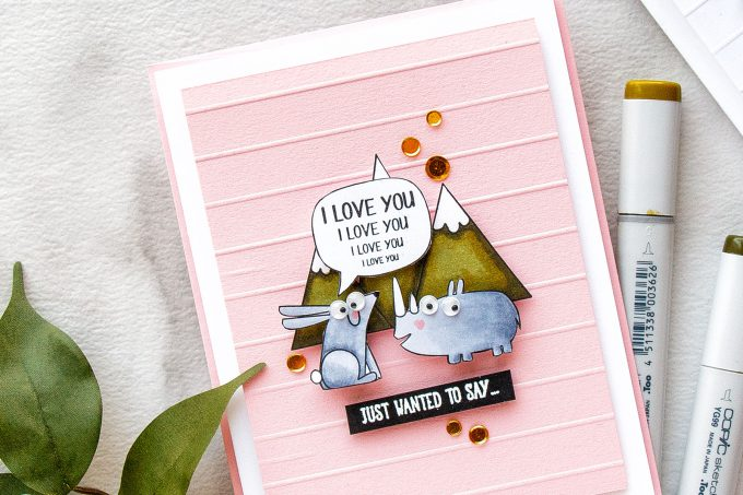 Simon Says Stamp | Shouting From The Mountain Tops Funny Friendship Cards by Yana Smakula #cardmaking #sssfriends #simonsaysstamp #stamping #handmadecard