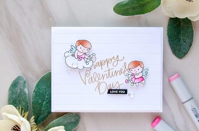 Pretty Pink Posh | Happy Valentine's Day Card #prettypinkposh #cardmaking #valentinecard #lovecard #handmadecard