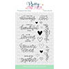 Pretty Pink Posh Love Sentiments Clear Stamp Set