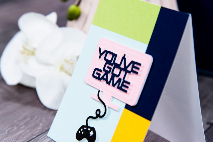 Spellbinders | You've Got Game Card using S3-310 You've Got Game dies. Handmade card by Yana Smakula #spellbinders #diecutting #cardmaking