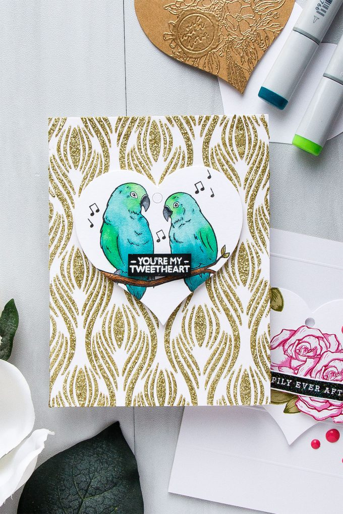Hero Arts | Heart Shaped Tags + Cards. Video. January My Monthly Hero Blog Hop. You're my tweetheart card by Yana Smakula #heroarts #mmh #stamping