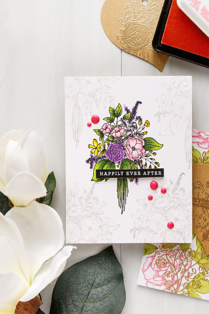 Hero Arts | Heart Shaped Tags + Cards. Video. January My Monthly Hero Blog Hop. Happily Ever After card by Yana Smakula #heroarts #mmh #stamping