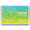 Hero Arts Ombre Neon Chartreuse to Blue Ink Pad