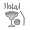Spellbinders Hola Margaritas Die Set