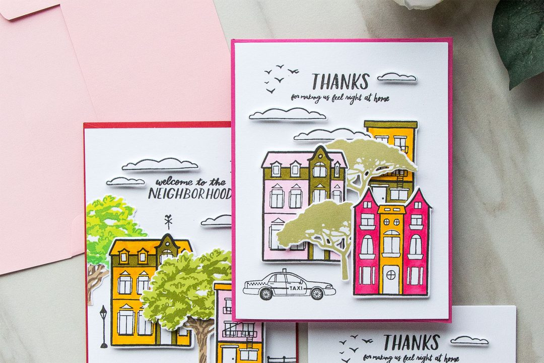 Hero Arts | Welcome Neighbour Cards by Yana Smakula #stamping #heroarts #cardmaking
