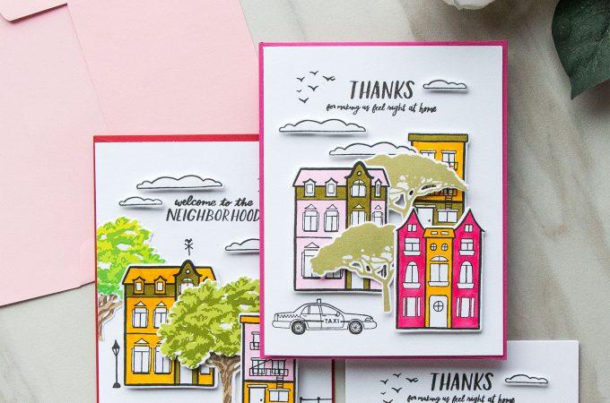 Hero Arts | Welcome Neighbour Cards by Yana Smakula #stamping #heroarts #cardmaking