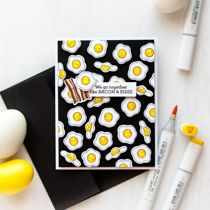 Simon Says Stamp   Repeat Background + Dimensional Pattern Stamping with Breakfast Buddies. Video Tutorial with Yana Smakula #yippeeforyana #simonsaysstamp #simonsayslove #stamping #patternstamping #handmadecard #howtomakeacard