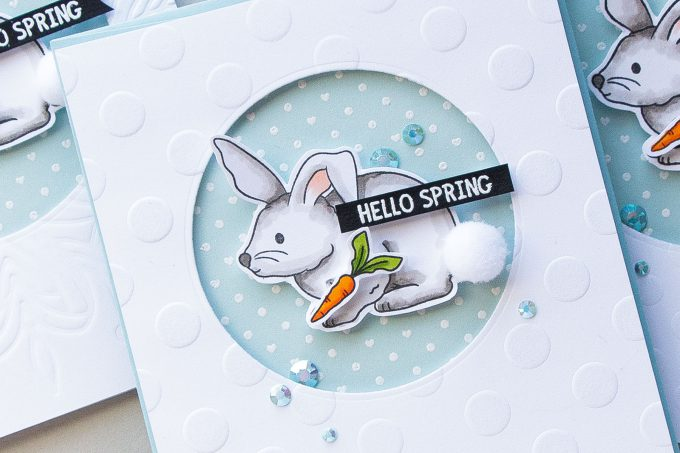 Simon Says Stamp | Spring Bunny Cards. Video by Yana Smakula using Showers & Flowers stamp set. #stamping #simonsaysstamp #springcard #cardmaking