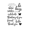 Hero Arts Hand Drawn Everyday Messages Stamp Set