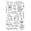 Hero Arts Clear Stamps Mouse Tea Party