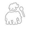 Hero Arts Color Layering Frame Cuts Elephant Die