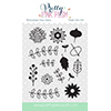 Pretty Pink Posh Autumn Blooms Clear Stamp Set