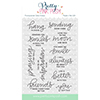 Pretty Pink Posh Encouraging Greetings Clear Stamp Set
