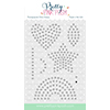 Pretty Pink Posh Sparkle Dot Pattern 1 Stamp Set