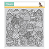 Simon Says Cling Rubber Stamp Doodle Egg Background