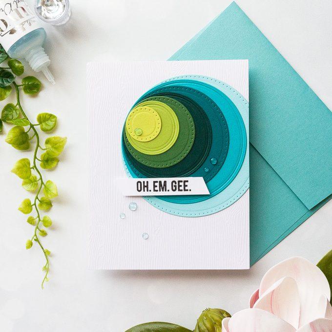 Spellbinders Classics - March 2018 Basic Shape Dies. Handmade card by Yana Smakula