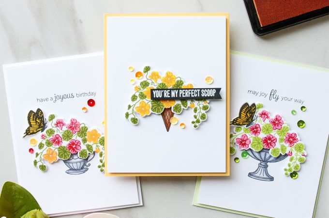 Hero Arts | Color Layering With Yana Series - Color Layering Nasturtium Cards. Video