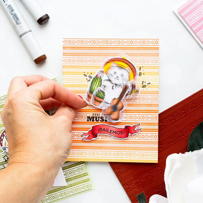 Hero Arts | April 2018 My Monthly Hero Blog Hop. Video. Handmade cards by Yana Smakula. Cinco De Mayo Cards; Fiesta Card; Feliz Cumpleanos Cards #cardmaking #handmadecard #mymonthlyhero #stamping
