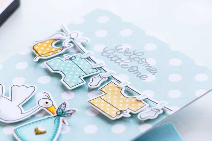 Simon Says Stamp | Welcome Little One - Baby Card using Oh Baby sss101815 stamps and coordinating dies #simonsayssstamp #simonsaydbestdays #stamping #babycard #cardmaking