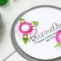 Spellbinders | Circle Floral Cards for Friends (using April 2018 Small Die Of The Month). Video tutorial by Yana Smakula #cardmaking #neverstopmaking #diecutting #spellbindersclubkits #diecutclub #handmadecard