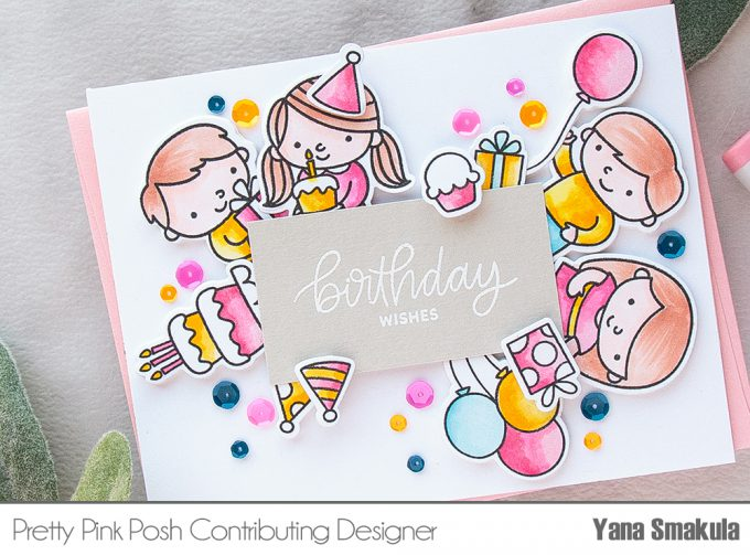 Pretty Pink Posh | Colorful Birthday Card. Video #prettypinkposh #birthdaycard #cardmaking #stamping #ilovetomakecards