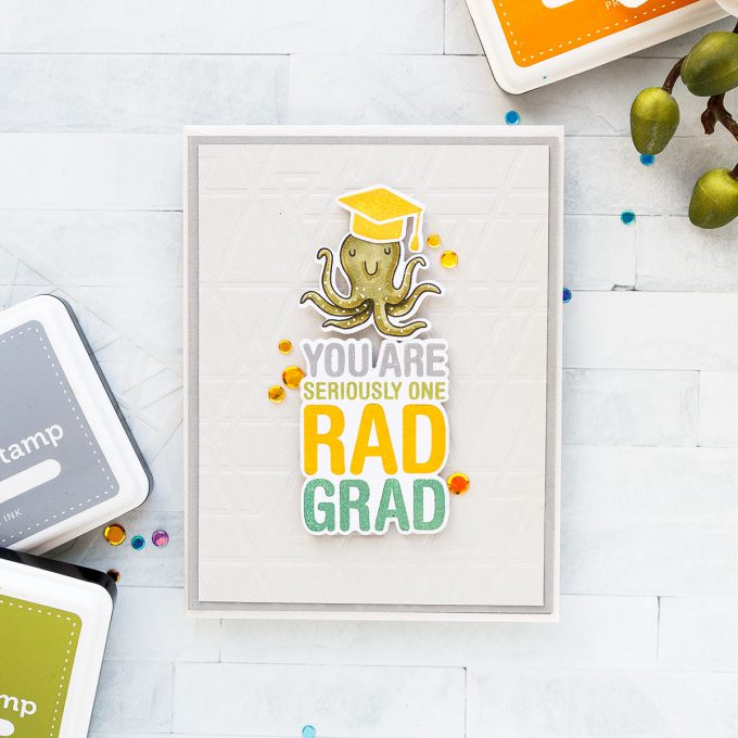Simon Says Stamp | Rad Grad Graduation Card. Yippee For Yana Series. Video #simonsaysstamp #stamping #graduationcard #cardmaking #handmadecard