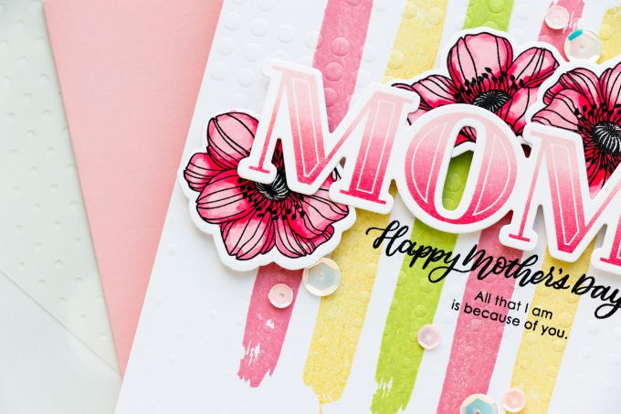 Simon Says Stamp | Mother's Day Card. Creative cardmaking process by Yana Smakula #mothersdaycard #cardmaking #stamping #lovetomakecards #videotutorial