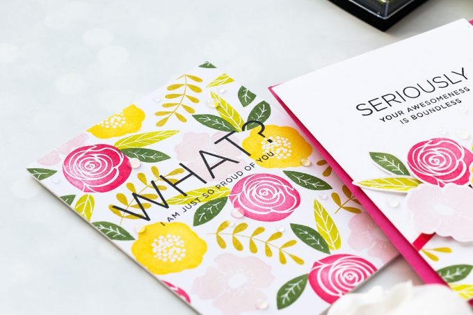Simon Says Stamp | Stamped Floral Patterns. Yippee For Yana Series. Video #yanasmakula #simonsaysstamp #stamping #stampedpattern