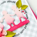 Spellbinders   Ombre Silhouette Die Cuts. Video. Blog Hop + Giveaway Mother's Day Card featuring Little Loves collection by Spellbinders