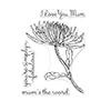 Hero Arts Florals Clear Stamp Mum Stem