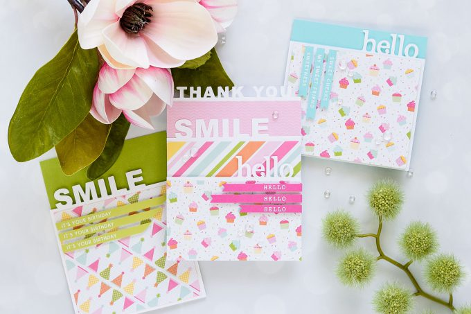 Spellbinders | Colorful Cards by Yana Smakula - Small Die Of The Month Club May 2018. Video. #spellbinders #diecutting #neverstopmaking #handmadecards #cardmakingvideo