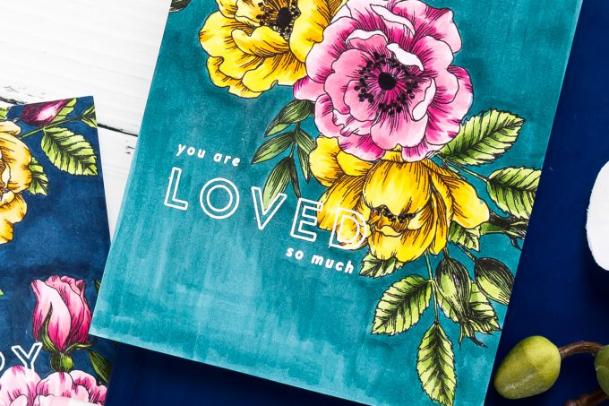 Simon Says Stamp   One Layer Floral Copic Colored Cards. Yippee For Yana Series. Video #cardmakingvideo #stamping #handmadecard #copiccoloring #adultcoloring