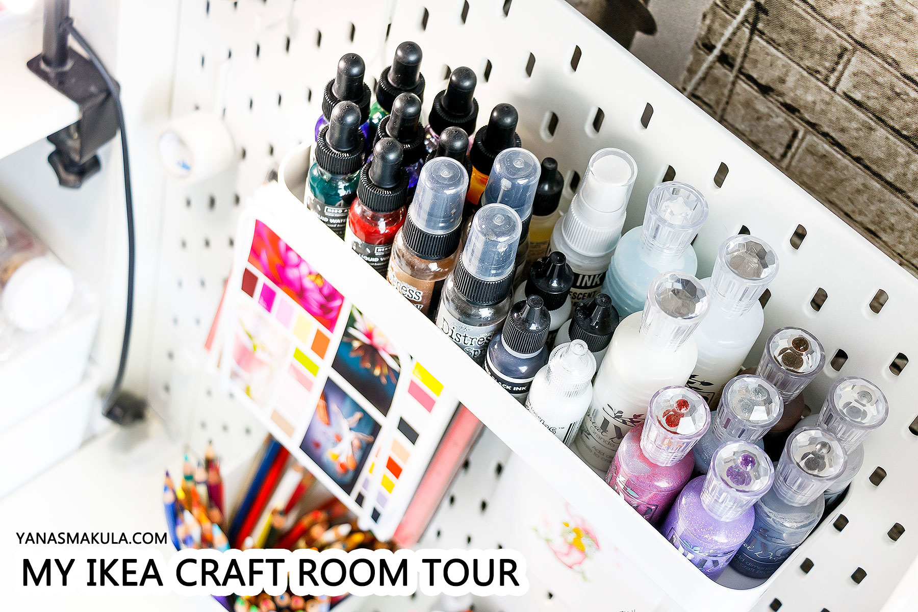 My IKEA Craft Room (Craft Corner) Tour 2018 | | Yana Smakula
