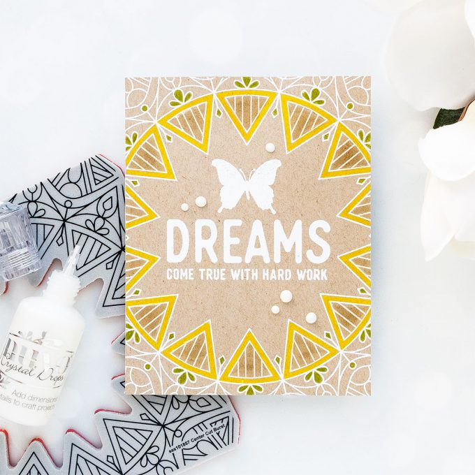 Simon Says Stamp | Dreams Come True With Hard Work Card by Yana Smakula + Photo Tutorial #sssflutteringby #simonsaysstamp #stamping #handmadecard